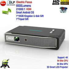 2018 New 4K DLP High Brightness 8500Lumens 3D WiFi Full HD LED Projector HDMI