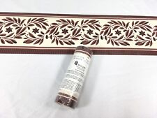 "Wallquest Wallpaper Border Red RUST Beige Country Star Leaf 4.75"" 5 Yards"