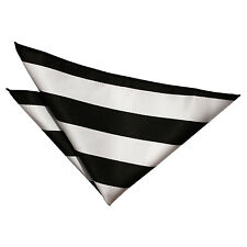Men's Striped Woven Evening Wedding Work Hankerchief Pocket Squares