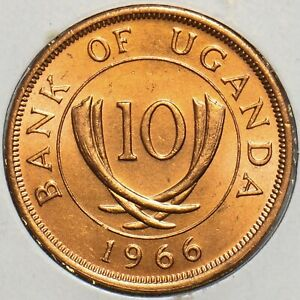 Uganda 1966 10 Cents 197278 combine shipping