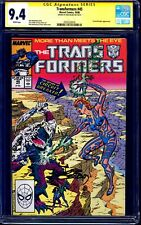Transformers #45 CGC SS 9.4 signed Jose Delbo 1988 NM