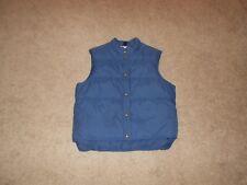 Men's L.L.Bean Nylon Vest W/Polyester Filling SZ Large Dark Blue
