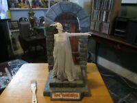 RESIN BRIDE OF FRANKENSTEIN with a RESIN BASE DIORAMA  14 inches TALL