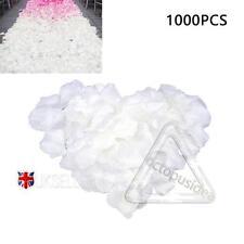 1000 pcs Blanc Soie Rose Pétale De Fleur Confettis Fiançailles fête Célébration