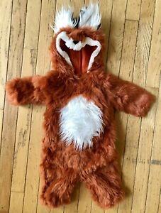 POTTERY BARN KIDS WOODLAND BABY FOX HALLOWEEN COSTUME SIZE 0-6 MONTHS