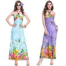 Polyester Halter Neck Floral Tall Dresses for Women