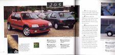 Peugeot 106 205 306 405 605 1993-94 UK Market Sales Brochure