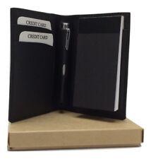 NERA PELLE BLOCK NOTES scatola regalo personalizzate con il tuo testo &