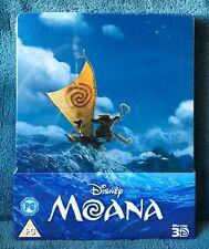 Moana (Blu-ray 3D & 2D discs, 2017) Limited Edition Steelbook Region Free SEALED