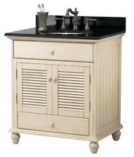 Foremost Cottage 30 in. x 34 in. x 21.5 in. Vanity Cabinet - Antique White
