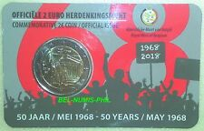 BELGIË 2018 - 2 € - Mei 1968-2018 - 50 jaar Studentenopstand in coincard - BU!
