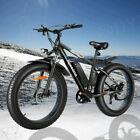 "26"" 500W Electric Bike Fat Tire Snow E-Bike Mountain Bicycle 48V 10Ah-US"