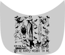 """NIGHTMARE BEFORE CHRISTMAS """"WE'RE SIMPLY MEANT TO BE"""" CAR DECAL VINYL GRAPHIC"""