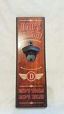 Wall Mounted Bottle Opener Plaque - Dads Garage - Man Cave - Pool Room - Bar
