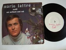 """Mario Lattré : Noel / Un enfant est né - 7"""" 45T 1970 TEST-PRESSING AZ SG 129"""