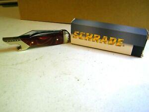 Schrade SLEGWL Knife First Production Run Wood Swirl Handle New In Box