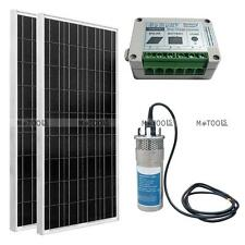 200W Poly Solar Panel+24V Deep Well S/Steel Submersible Water Pump +Controller