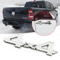 Chrome 4x4 Letter Rear Trunk Emblem Badge Sticker For Dodge Ram 1500 2500 3500