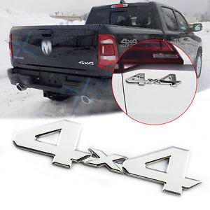 Chrome 4x4 Letter Rear Trunk Emblem Badge Sticker For Dodge Ram 1500 2500 3500