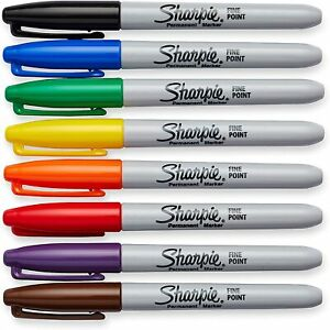 Genuine Original Sharpie colour Point Bullet Tip Permanent Marker Pens coloured