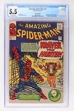 Amazing Spider-Man #15 - Marvel 1964 CGC 5.5 - 1st App Kraven - UK Price Variant