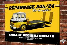 Plaque métal déco 40x30cm Dépanneuse ancien Garage Renault avec camion SAVIEM
