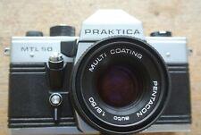 Praktica MTL50  35mm SLR Camera + Pentacon Auto 50mm 1:1.8 Lens . NICE WORKING