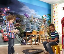 Papier Peint Photo Mural Cars 2 Disney pour les Enfants Nurserie Décoration +