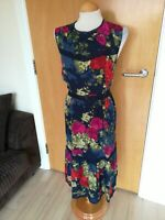 Ladies TU Dress Size 14 Blue Red Smart Party Evening Wedding