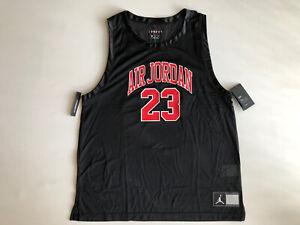 NIKE  Jordan DNA Distorted Jersey Top Black Red/Blue Basketball AJ1140 010 Sz XL