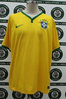 Maglia calcio BRASILE BRAZIL TG XL 2014/16 shirt trikot camiseta maillot