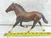 "Bryer Reeves Brown and Black Horse Stallion Running Vintage 13""x 7.5"