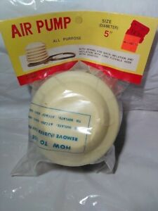 """vintage All Purpose Air pump Size Diameter """"5 'Condition New' (Read)"""