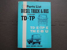 ISUZU DIESEL TRUCK & BUS TD TP TM BU Series Original Genuine Parts List Catalog