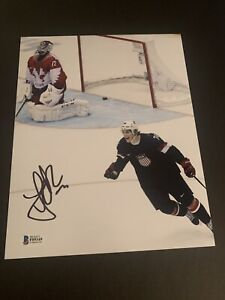 TJ Oshie signed autograph 8X10 photo USA Olympics BAS