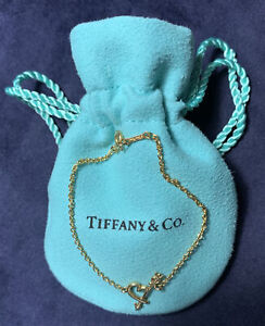 Tiffany & Co 18k 750 Solid Rose Gold Paloma Picasso Loving Heart Arrow Bracelet