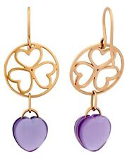 Mimi Milano 18K Rose Gold And Amethyst Earrings O284R8A