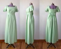 TRUE VINTAGE Small 1960s prom dress 60s mint green formal evening retro long