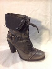 River Island Brown Ankle Leather Boots Size 7