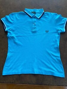 FRED PERRY+++POLO++TURCHESE++TG L+++ORIGINALE100%++REUSE++++STREET WEAR