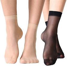 20/10/5 Pairs Women Men Mesh Fishnet Lace Socks Sheer Silky High Ankle Stockings