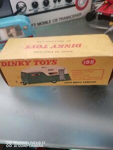 Dinky Toy No. 188 Four Berth Caravan,  original Box Only