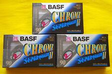 6x BASF Chrome Super II 90 Cassette Tapes 1997 + OVP + SEALED +