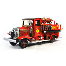 handmade 1928 US Mack Fire Engine Tinplate Antique Style Metal Model