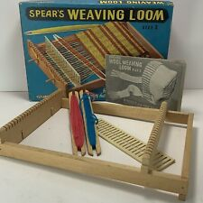 Vintage 50s 60s Spears England Weaving Loom Size 2 with Instruction Book