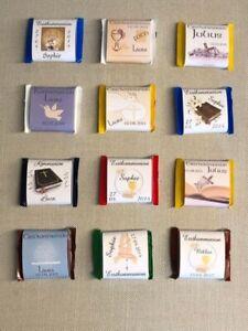 25 x Gastgeschenk Ritter Sport personalisiert Kommunion Konfirmation Schokolade