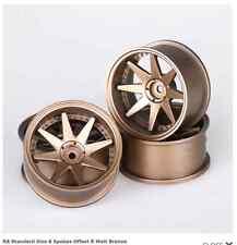 SPEEDLINE R8 RC Drift Car 1/10 Wheel Rims Matt Bronze 8 Spoke Offset 8mm 52x26mm