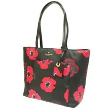 Kate Spade Flower pattern Tote Bag Red PVC/leather Women