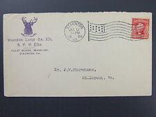 Staunton Virginia Elks Lodge 351 1906 Advertising Cover American Flag Cancel