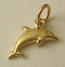 GENUINE SOLID  9ct  Yellow  Gold  3D  DOLPHIN  SEA OCEAN ANIMAL Charm/Pendant